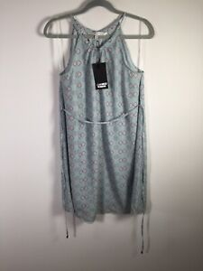 Jeanswest the collection NEW WITH TAGS blue issa halter dress size 10 sleeveless
