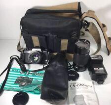 Yashica FX-3 Super 2000 w/vivitar 80-200 1:4.0 & Yashica 50 mm Lenses Flash Bag