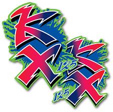 1990 Kawasaki KX 125 Shroud Decals Graphics Die Cut