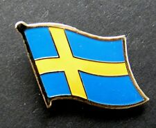 SWEDEN SWEDISH SINGLE FLAG LAPEL PIN BADGE 7/8 inch