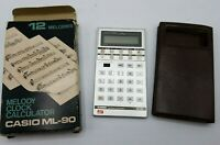 CASIO Vintage Melody ML-90 Calculator Melody Alarm Clock Parts/Repair