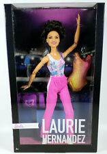 New 2018 Signature Barbie Laurie Hernandez Gymnast Made To Move Doll US Ship