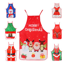 CHRISTMAS ADULT KID CHEF APRON KITCHEN COOKING BAKING SANTA FESTIVE BBQ CRAFT UK