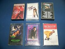 Original Movie Cassette Soundtracks Dirty Dancing, Batman, Cocktails, Top Gun