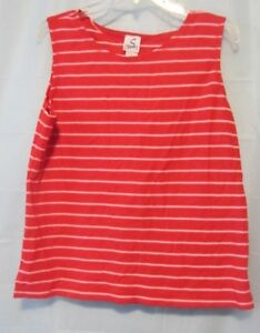 Womens Tank Top Sport Savvy Red & White striped size Large Pre-Owned