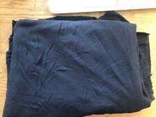 Navy viscose elastane fabric / tops / dress making / sewing 2M length