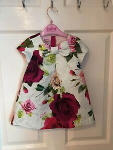 STUNNING GENUINE TED BAKER BABY GIRLS SUMMERY PARTY DRESS AGED 9-12m