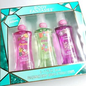 Body Fantasies Gift Set Gorgeous Vibes Dreams Fragrance Spray Limited Edition