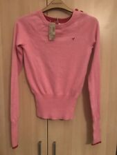 $39.50 Neuf avec étiquettes american eagle outfitters Rose Rouge Pull Sweater XS Extra Small 6 2