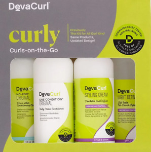 DevaCurl Curly Curls-On-The-Go set brand new set (box has slight damage)