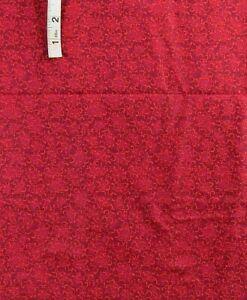 'Twig & Berry' Deep Red Print Cotton Quilt Fabric,Crafts,Hancock Fabrics,Masks