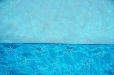 "WEDDING ORGANZA SPARKLE DROP TURQUOISE 58"" WIDE DRAPING SASHES OVERLAY FABRIC"