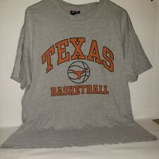 Texas Longhorns Basketball Gray T Shirt Size Large