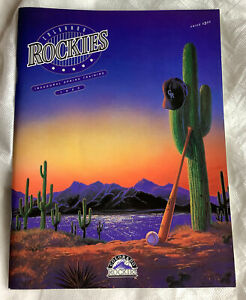 1993 Colorado Rockies Inaugural Spring Training Game Program