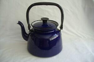 Vintage Polish Blue Enamel Kettle.