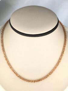 """Stunning! So Unique! 18"""" Diamond Cut Twisted Chain 14K Rose Gold 6.5 (D01050411)"""