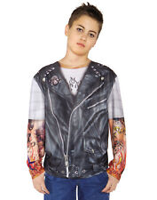 Biker Printed Boys Child Halloween Costume Accessory Shirt-L