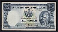 NEW ZEALAND P-160a. 5 Pound (1940-55) - Hanna..  2/R Prefix..  gEF