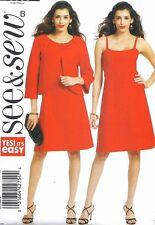 Women's Short Summer Strappy Dress & Jacket Sewing Pattern UNCUT 18 20 22 24
