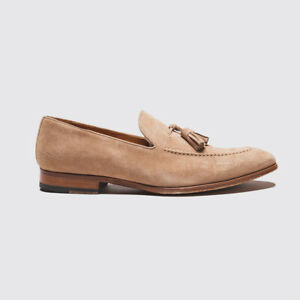 Magnanni Sand Suede Shoes Size 10.5 Men Tassel Loafer with Leather Sole