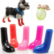 4Pcs Pet Dog Protective Stretchy Rain Boots Shoes Waterproof Non Slip Comfortabl