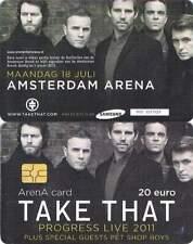 Arenakaart A125-01 20 euro: Take That