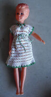 """Vintage 1960s MPF Marked Thin Plastic Character Girl Doll 17"""" Tall"""