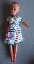 "Vintage 1960s Mpf Marked Thin Plastic Character Girl Doll 17"" Tall"