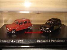 DUO RENAULT 4 de 1962 ET RENAULT 4 PARISIENNE de 1963 au 1/87°