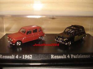DUO RENAULT 4 de 1962 ET RENAULT 4 PARISIENNE de 1963 au 1/87° HO