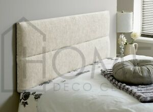 BED HEADBOARD CHENILLE BED HEAD | KINGSIZE | DOUBLE | SINGLE | SUPERKING