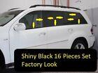 for Mercedes GL 2006-2012 Shiny Black window sill + Pillar Post overlay Trim