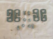 CHEVY GMC 1955 1956 1957 1958 CAMEO  TAILGATE cable retainer plates set & BOLTS