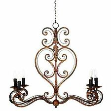 "Vintage Antique Look Metal Chandelier 31.5""x12""x74.5"" - 89706"