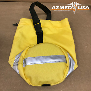 Oxygen/Air Tank Carry Cover Holster - Yellow w/ Reflective Stripe