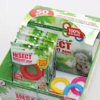 5 x Mosquito Repellent Bracelets Natural Waterproof Spiral Deet Free Wrist Bands