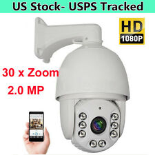 30X ZOOM HD 1080P 2.0MP Outdoor PTZ IP Speed Dome Camera IR Night CMOS 7'' AUTO