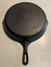 """Vintage Cast Iron 11 3/4"""" Skillet # 10 A Unmarked  Made In USA."""