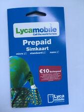 Lycamobile NL Prepaid Sim Karte ohne Registrierung /ohne Ausweis  •Plug & Play