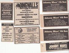 JOHNNY MARS 7th SUN : 8 CONCERT ADVERTS -70s/80s-