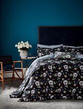 V & A Black Floral Duvet Cover Set - GARDENIA -  Curtains, Cushions or Throw