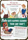 1951 TIDE LAUNDRY DETERGENT SOAP Vintage Look DECORATIVE METAL SIGN -MOM DAD FAM