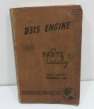 Caterpillar D315 Engine Tractor  Parts Manual Catalog 9S5001 - UP VINTAGE