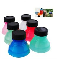 6pcs Reusable Can Cover Turn Convert Can into Bottles Snap On Soda Can Tops Lids