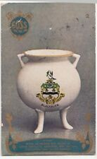 Goss Crested China Advertising Card, Blackburn Crest on Pot PPC, 1906 PMK