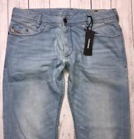 Mens DIESEL Iakop Jeans W34 L30 Blue Regular Slim Tapered Wash 0852I