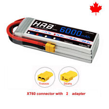 HRB 14.8V 4S 6000mAh RC Lipo Battery 50C-100C XT60 for RC Helicopter Drone Car