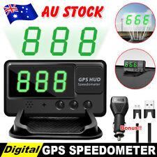 2018 GPS Car HUD Speedometer Digital Heads Up Display Speed Warning Plug & Play