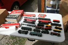 Très gros lot train 4  locomotive 1 wagon motorier 16 wagon et  accessoires HO
