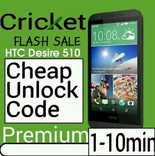 Unlock Code CRICKET HTC Desire 626  625 HTC  Desire 510 520 512 PREMIUM